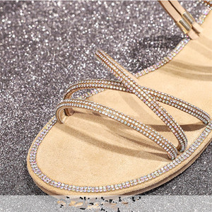 Image 4 - women fat Shoes with shiny rhinestones Girl shoes ladies Rubber soled shoes