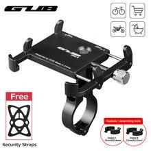 """GUB алюминиевый держатель для телефона, крепление для велосипеда, крепление для телефона, спортивный светильник для камеры, держатель для велосипеда, мотоцикла, держатель для руля с зажимом, подставка 3,"""" до 7,5"""""""