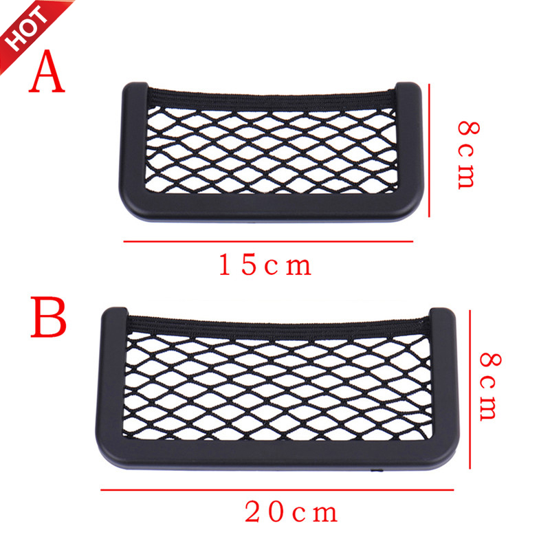 1PC Envelop Car Storage Bag Elastic Flexible Mesh Back Rear Cargo Trunk Storage Organizer Net SUV Auto Accessories Pocket Cage image