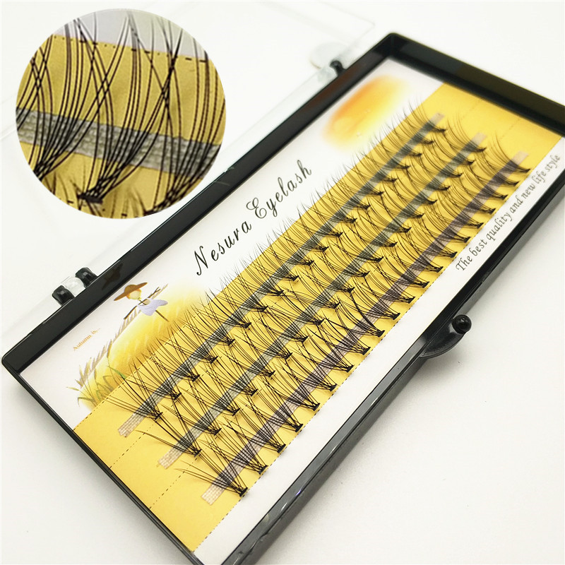 Fashion 60pcs Professional Makeup Individual Cluster Eye Lashes Grafting Fake False Eyelashes Free Shipping