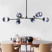 MDWELL Lámpara nórdica de techo para sala de estar, lámparas de habitación Retro, Loft, colgante, luminaria de suspensión vintage, luz led de techo