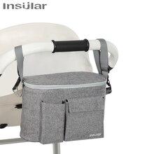 Carrinho de bebê organizador saco de carrinho de criança acessórios múmia saco de fraldas multifuncional saco de armazenamento garrafa de leite alimentação bolsa copo capa