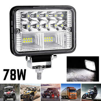78W 26LED Work Fog Light Offroad Spot Work Light Barre Working Lights Beams Car Accessories Suitable Jeep SUV ATV Excavator Etc
