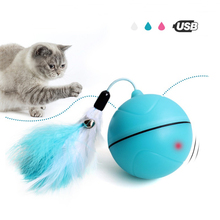 HIPET Electric Cat Toy Interactive USB Automatic Rolling Dog Pet Ball Smart LED Laser Red Light Funny Tumbler Toys
