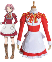 Anime Sword Art Online Shinozaki Rika/Lisbeth Cosplay Costumes Smelting Division Maid Suit Lolita Dress Party Role Play Clothing