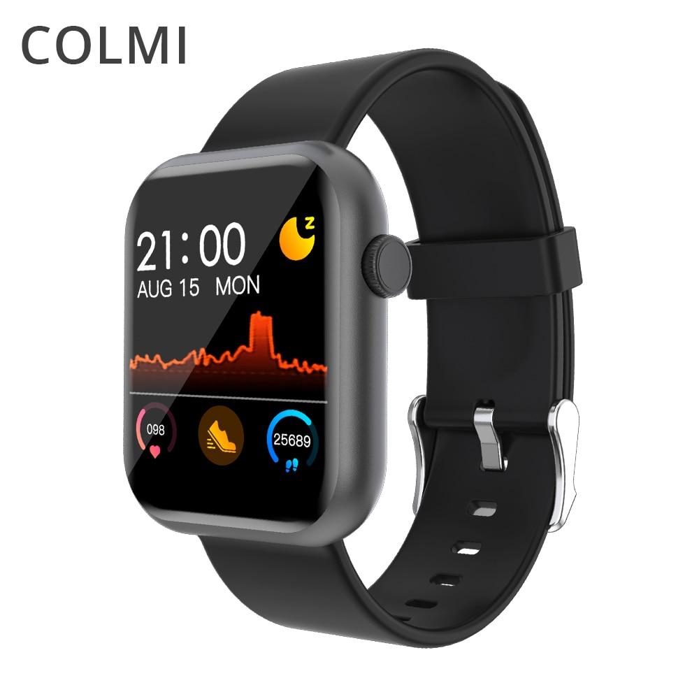 Colmi p9 relógio inteligente homem mulher completa smartwatch embutido jogo ip67 à prova dip67 água