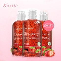 Kustie aardbei jam douchegel herfst winter hydratatie blijvende geur aardbei extractie body geur douche bad gel
