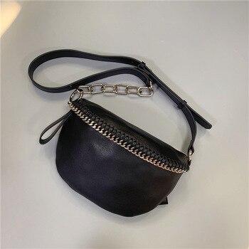 Waist bags Real Leather Waist Pack female Belt Bag Designer women chest bag New Fashion purse shoulder bags fanny pack for women