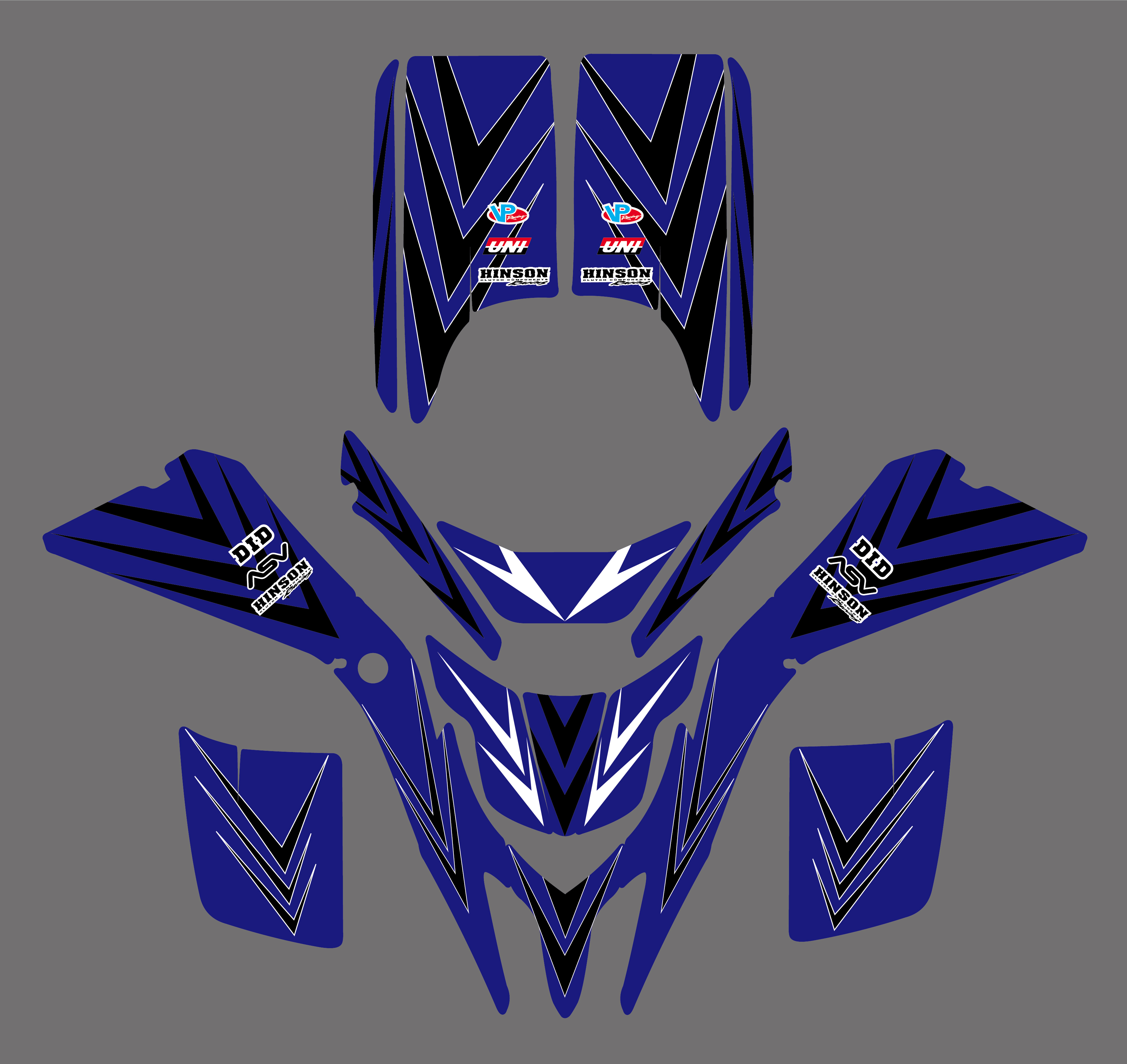 NICECNC Matching Team Graphic Background Decal And Sticker Kit For Yamaha Blaster YFS 200 YFS200 98-2002 2003 2004 2005 2006