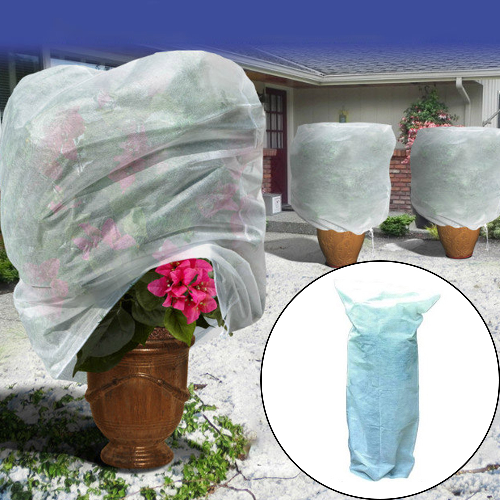 Non Woven White Warm Worth Adjustable Practical Plant Cover Cold Proof Multipurpose Frost Protection Anti Dust Easy Apply
