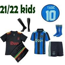 Novo ajaxes 2021 2022 camisa de futebol crianças casa longe terceiro antony cego haller tadic promes neres huntelaar crianças camisa de futebol