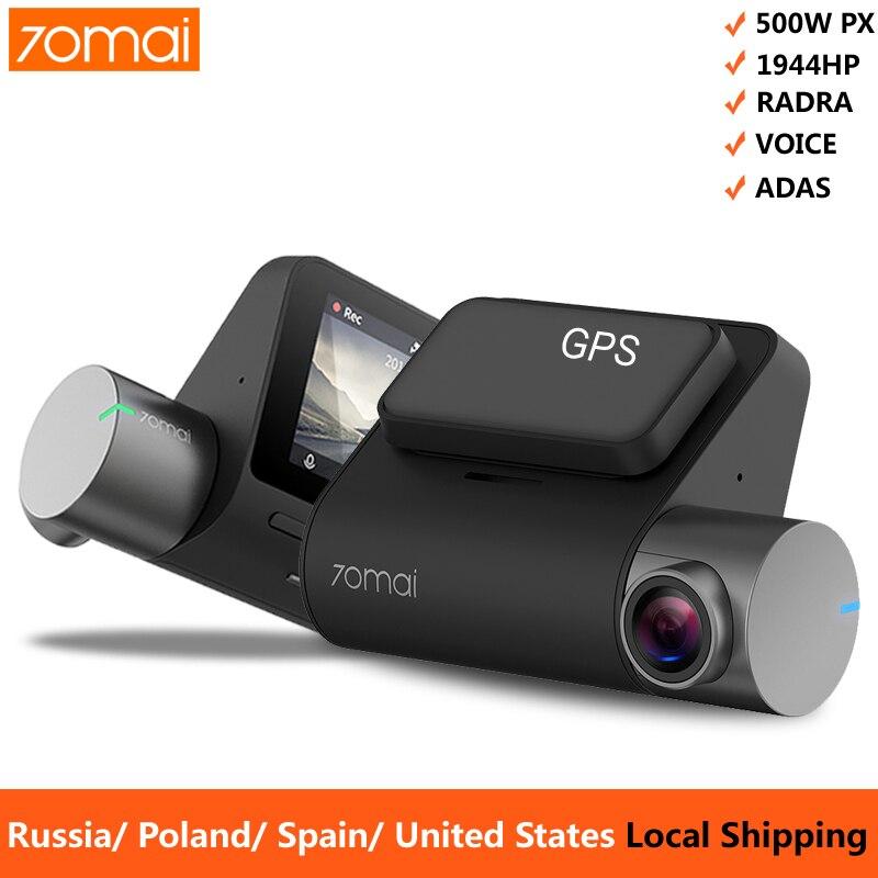 70mai Pro Dash Cam 1944P GPS ADAS Auto Kamera Dvr 70 mai Pro Dashcam Voice Control 24H parkplatz Monitor WIFI Fahrzeug Kamera