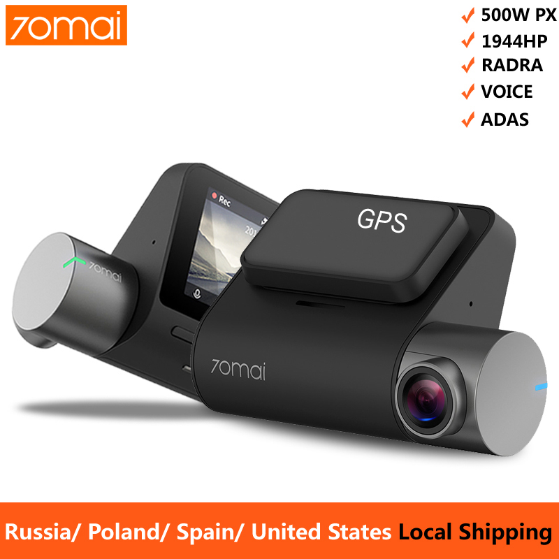 Vehicle Camera Dvr Parking-Monitor Voice-Control Dash-Cam GPS WIFI ADAS 1944P Xiaomi title=