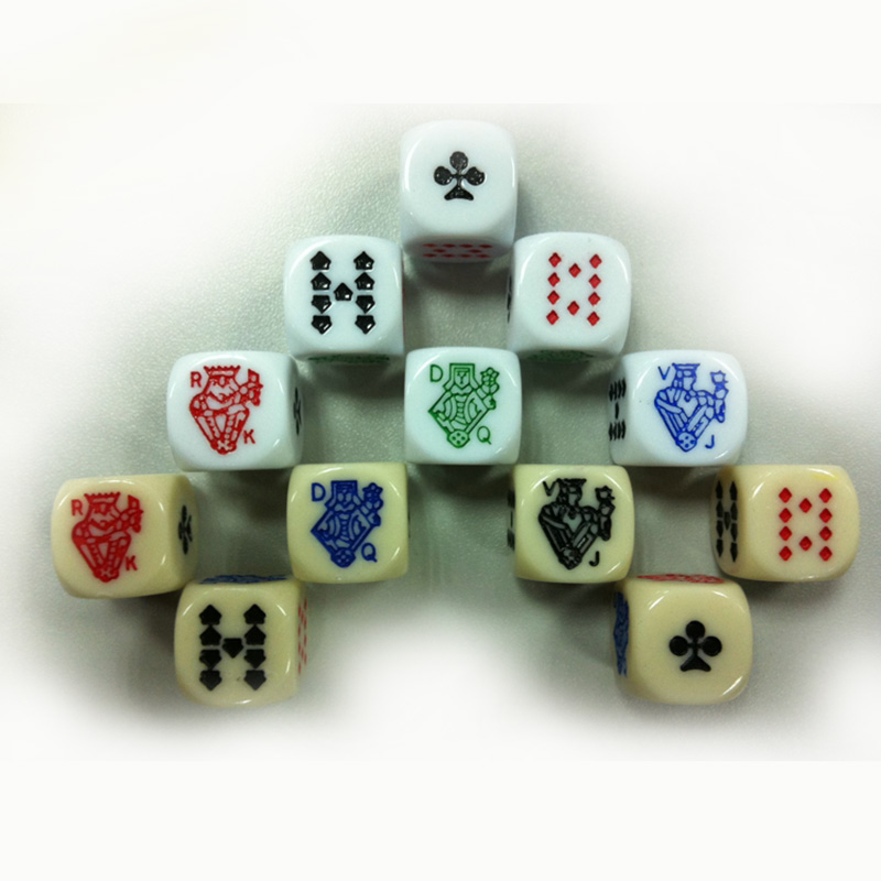 10 Piece Poker Dice Puzzle Game Send Children 6 Sided Dice Game Accessory 15mm