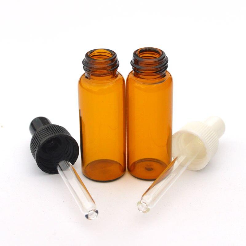 Garrafa de vidro mbar de 50 pces 5ml com o frasco de leo essencial dos tubos