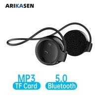 Lettore musicale con Carta di 32GB TF MP3 Bluetooth 5.0 cuffie Senza Fili hands free call auricolari Bluetooth 40 ore di musica tempo
