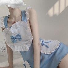 Костюм японской школьницы, сексуальное женское нижнее белье горничной, косплей, кружевное, в клетку, маленький Кук, частный ночной клуб, горничная Лолита