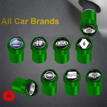 Bouchons de Valve de pneu de roue de voiture en métal vert, accessoires pour Lexus RX 300 IS 250 300 GX 400 460 UX 200 NX LX GS ES, nouveau, 4 pièces
