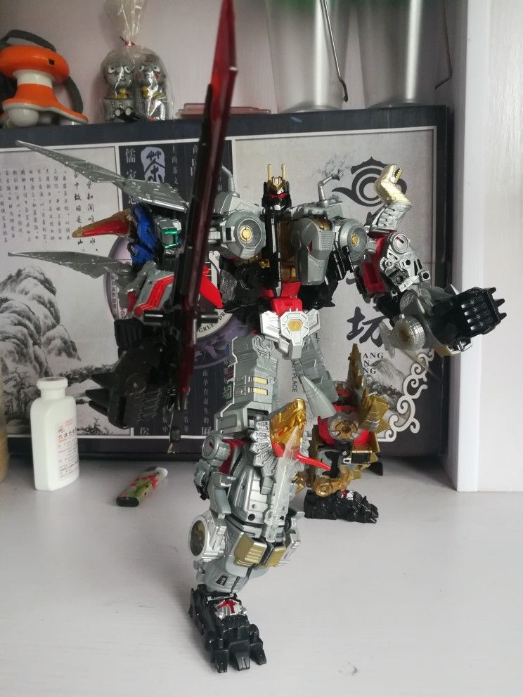 BPF Transformers Generations Power of the Primes Volcanicus Dinobot Toy KO.ver