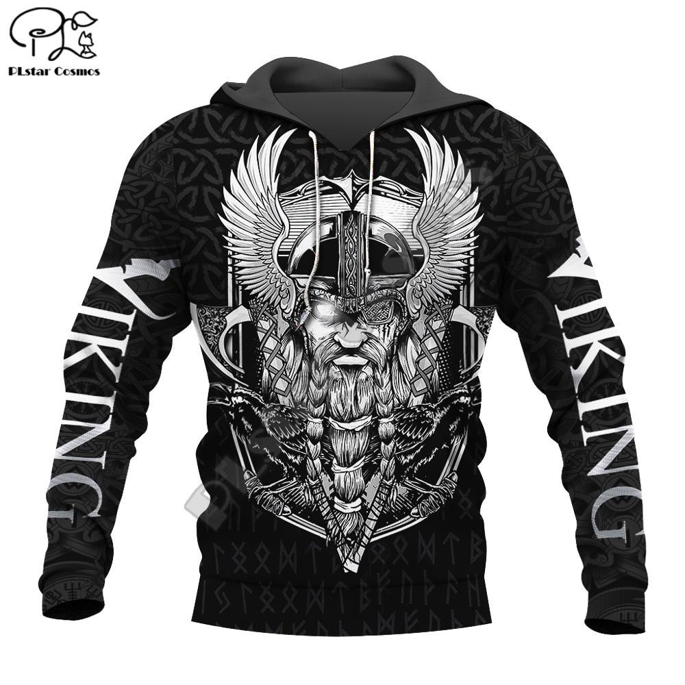PLstar Cosmos Viking Warrior Tattoo New Fashion Tracksuit Casual 3DfullPrint Zipper/Hoodie/Sweatshirt/Jacket/Mens Womens Style-2