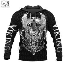 PLstar Cosmos Viking Warrior Tattoo New Fashion Tracksuit casual 3DfullPrint Zipper/Hoodie/Sweatshirt/Jacket/Mens Womens style-2(China)
