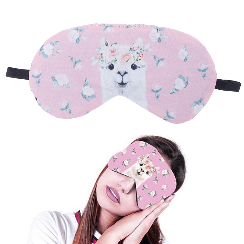 1PCS Soft Sleeping Mask Eye patch Soft Eye Sleep Mask Cartoon Travel Relaxing Sleeping Aid Blindfold