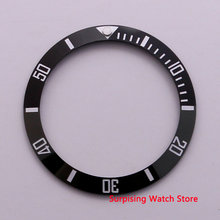 38 Mm Kualitas Tinggi Hitam Keramik Sisipan Bingkai Cincin Luminous Dot Fit 40 Mm Case Jam Sub Automatic Watch Pria(China)