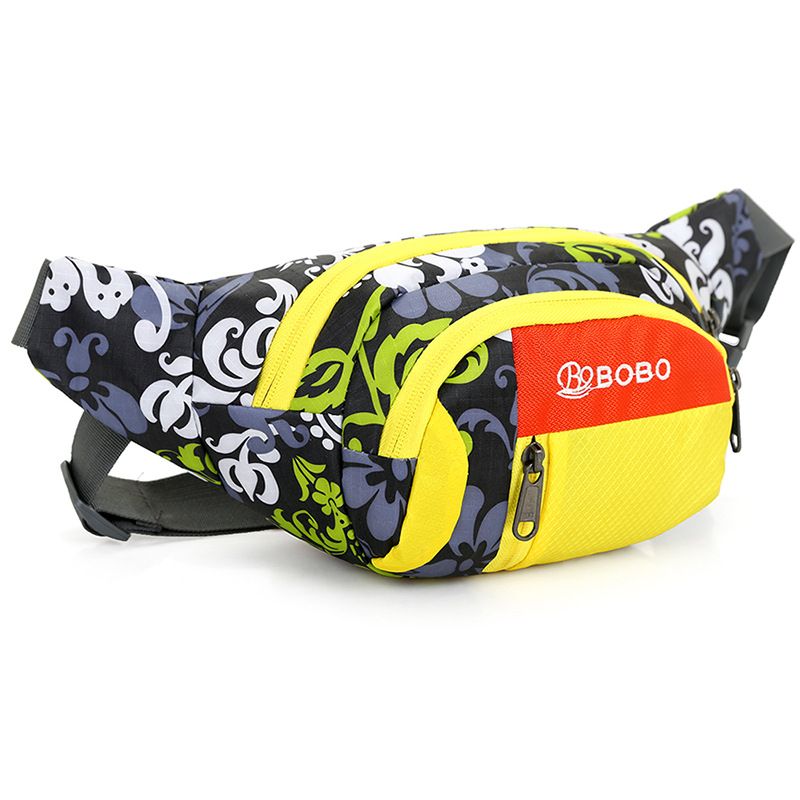 Outdoor Sports Mobile Phone Waterproof Oxford Cloth Waist Bag Ethnic-Style Men's Women's Portable Travel Fanny Pack Fashion