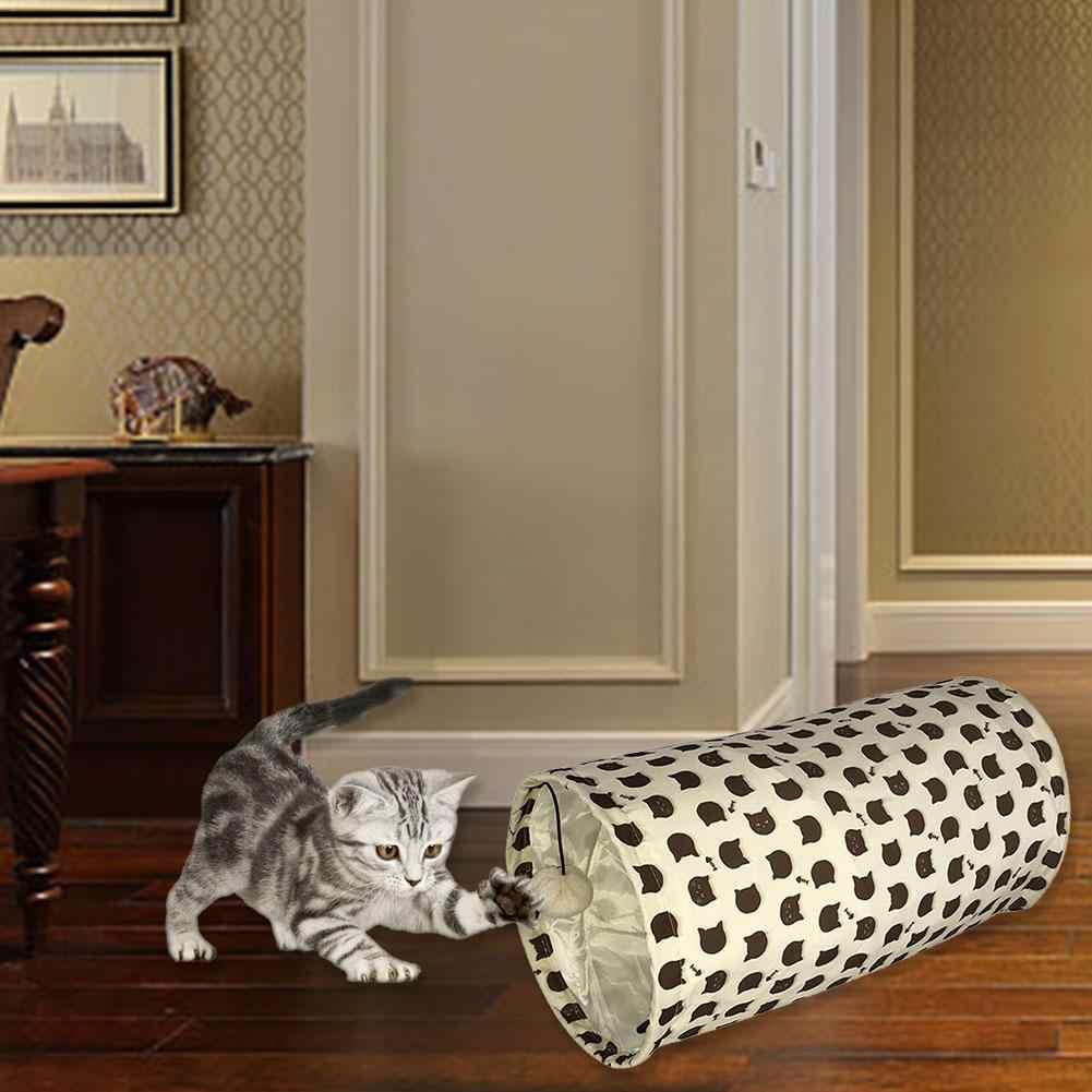 접이식 애완 동물 고양이 터널 장난감 접을 수있는 은신처 놀이 튜브 고양이 장난감 애완 동물 훈련 장난감 고양이 강아지 토끼 흰 족제비 터널 튜브