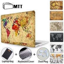 Mtt 2020 caso do portátil para macbook ar pro 11 12 13 15 16 retro mapa do mundo manga portátil plástico capa dura coque a2289 a1932 a2179
