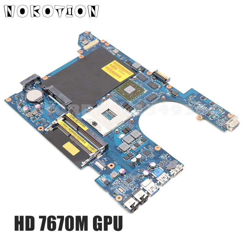 Nokotion para Dell Placa de Vídeo Vostro Laptop Motherboard Cn-0rdh49 0rdh49 Qcl00 La-8241p Hm77 Ddr3 Hd7670m 3560 V3560
