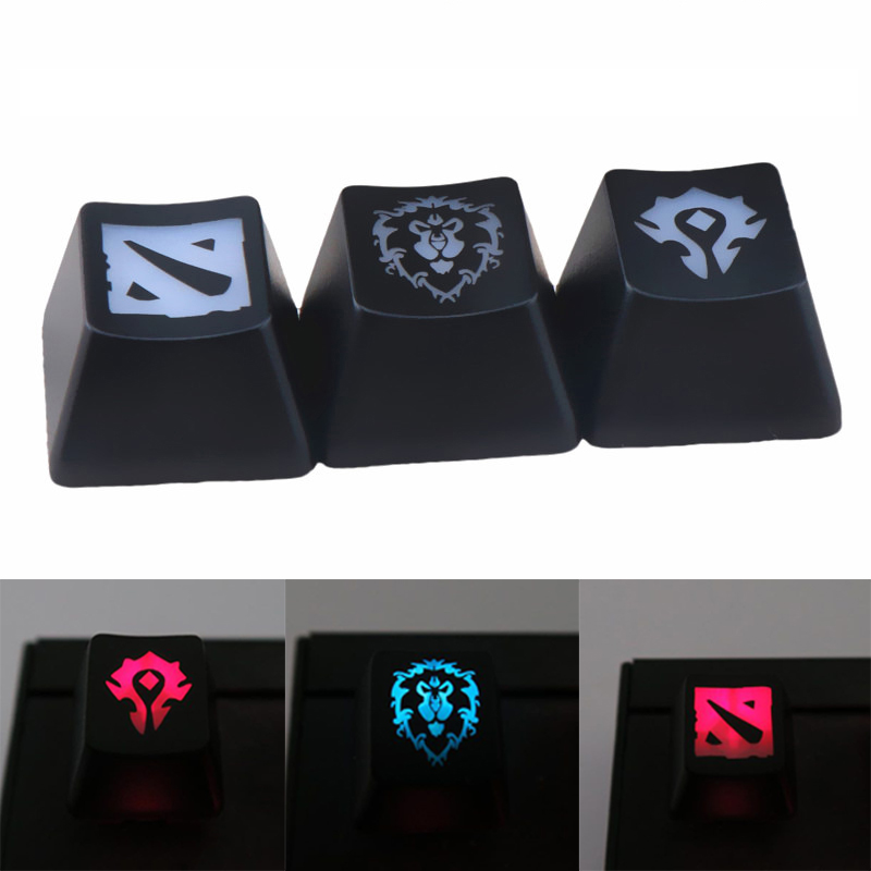 1PCS DIY Gaming Keycaps Key Button World Of Warcraft DOTA Key Caps Game Keycap Accessories Mercy ABS Cap For Mechanical Keyboard