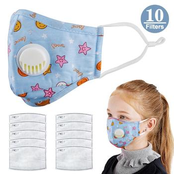Kids Dustproof Mouth Face Mask Anti Haze Mask Antibacterial Breathable Valved Dust Mask Respirator Washable Reusable High Qualit