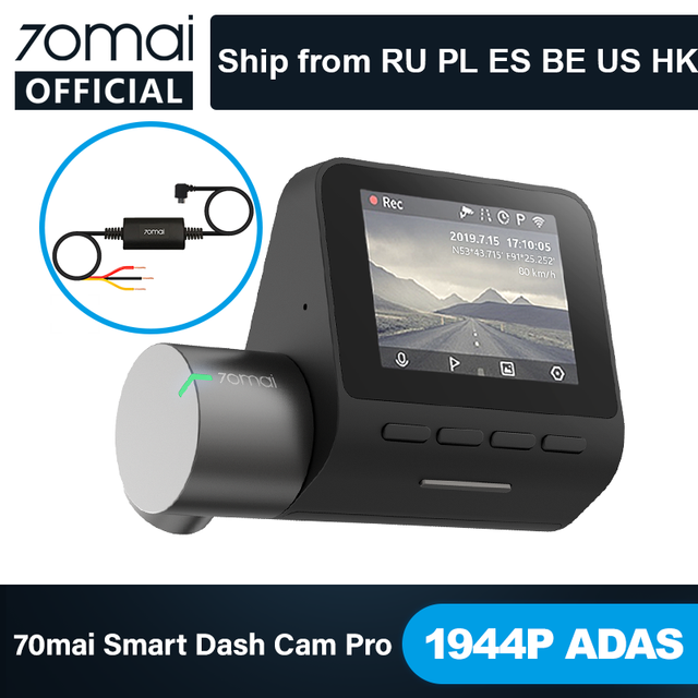 70mai Smart Dash Cam Pro English Voice Control 1944P 70MAI Car DVR Camera GPS ADAS 140FOV Auto Night Vision 24H Parking Monitor 1