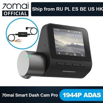 70mai Smart Dash Cam Pro English Voice Control 1944P 70MAI Car DVR Camera GPS ADAS 140FOV Auto Night Vision 24H Parking Monitor