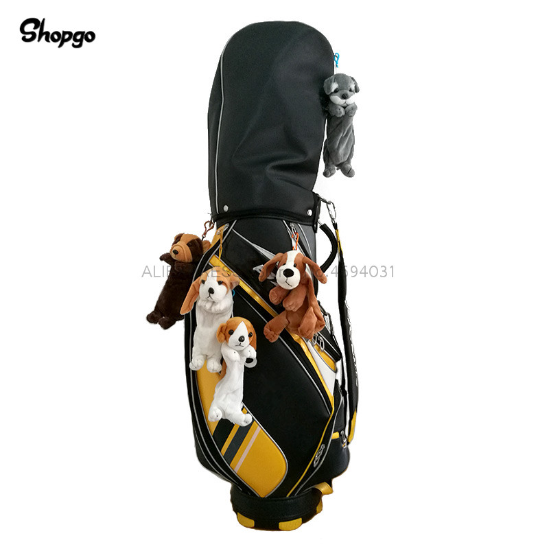 [10 Styles] Little Dog Small Golf Ball Bag Animal Zipper Golf Bags Size 5-6pcs Bag Accessories Mascot Novelty Cute Gift