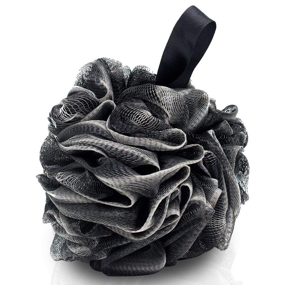 4 pcs macio elastico malha pendurado chuveiro bola de banho flor toalha de limpeza do corpo