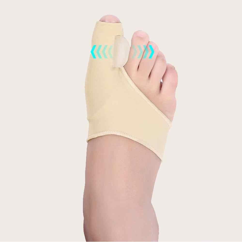 1 زوج مريحة لينة ضمادة لحماية إبهام القدم اصبع القدم مستقيم سيليكون فاصل أصابع القدم مصحح الإبهام قدم الرعاية الضابط أروح