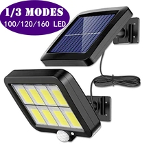 Настенный уличный светильник на солнечной батарее, водонепроницаемый светильник с пассивным ИК датчиком движения для парковки, двора, забо...