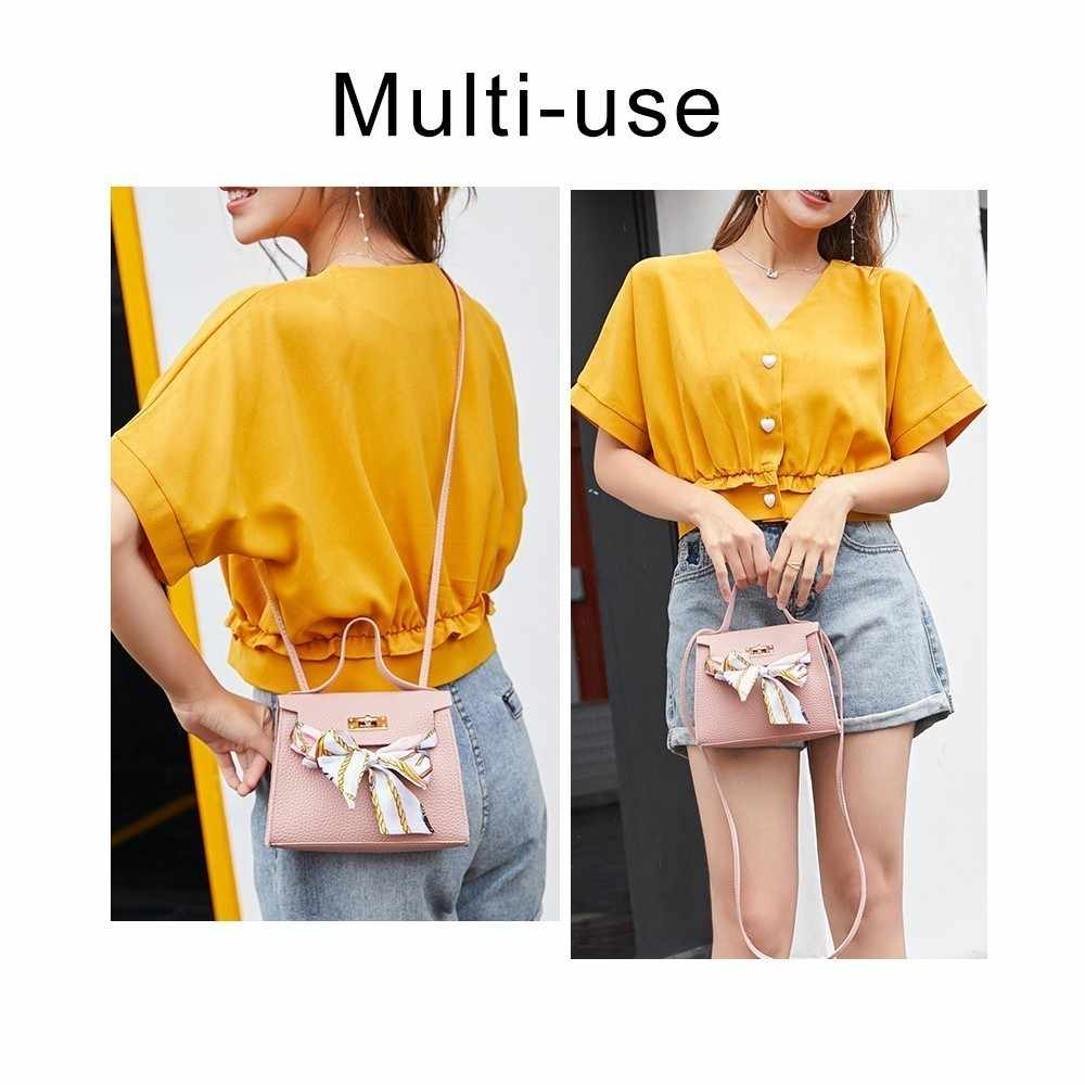 Herald Fashion Wanita Syal Bahu Tas Kulit Wanita Tas Bahu Hitam Pesta untuk Anak Perempuan Tas Vintage Tas Messenger