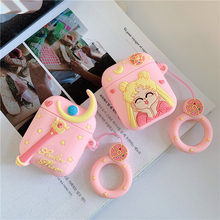 For AirPods 1/2 Case Cute Pretty Girl Fashion Cherry Earphone Cases Apple Airpods 2 Soft Silicone Protect Cover