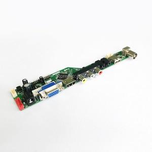 "Image 2 - Fit LM185WH1 2 CCFL Inverter LVDS 30 Pin PC desktop 1366*768 18.5 ""VGA + HDMI + Audio + USB + Fernbedienung LCD screen controller board DIY kit"