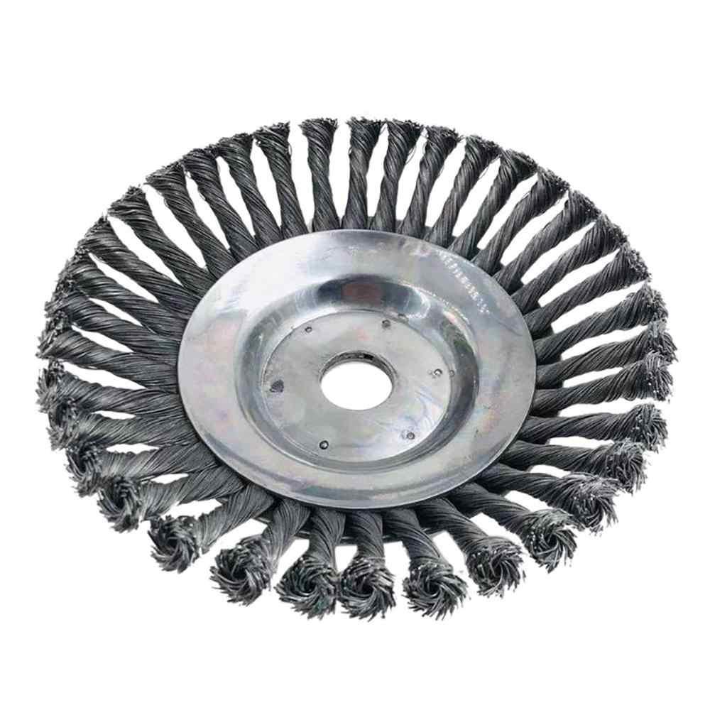 6/8 polegada de aço cabeça do aparador de ervas daninhas jardim acessórios escova break-proof weeder cabeça para cortador de grama de energia fdh