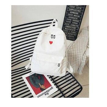 South Korea lovely ins soft bag female student Japanese Harajuku backpack small fresh ulzzang white backpack