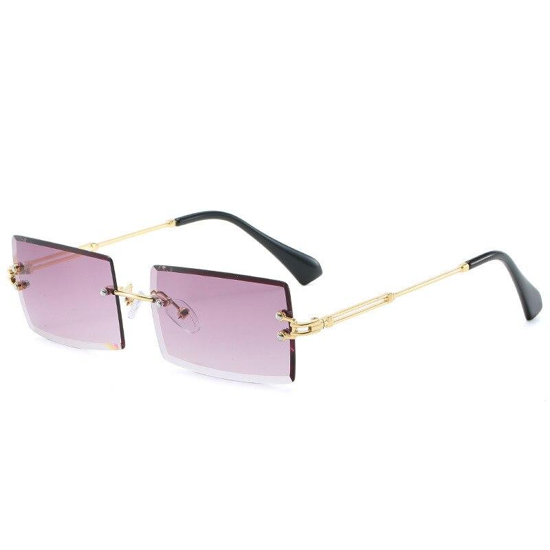2020 occhiali da sole retrò donna Designer di marca moda occhiali da sole sfumati senza montatura tonalità lenti da taglio occhiali da donna senza montatura 2