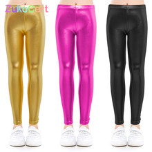 Baby pants for girls Kids Leggings Children's pencil pants Trousers Faux PU Leather Legging Slim trousers 3-9 years(China)