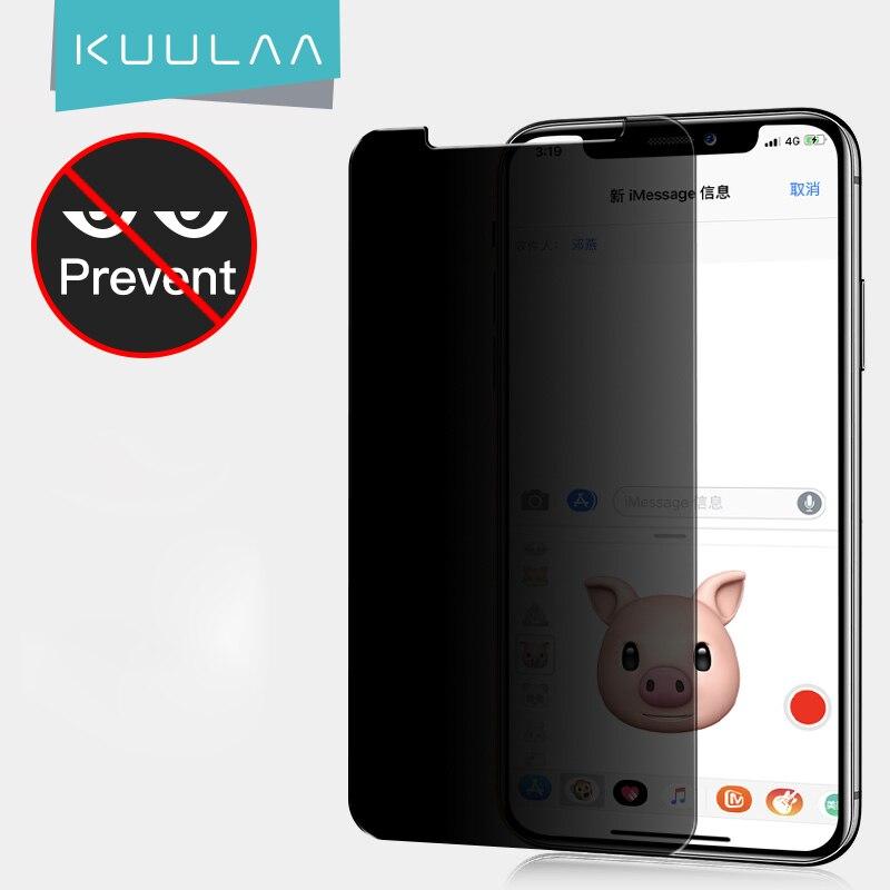 Защита для экрана KUULAA для iPhone XS MAX XR, защитное стекло с полным покрытием, закаленное стекло для iPhone XS Max, защита от шпионов