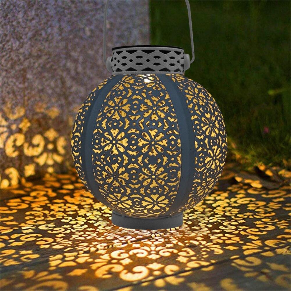 Ретро светодиодный светильник на солнечной батарее, светильник с полым фонариком, ручная Подвесная Лампа для проектора, открытый сад, водонепроницаемый газон, пейзаж|Солнечные лампы|   | АлиЭкспресс