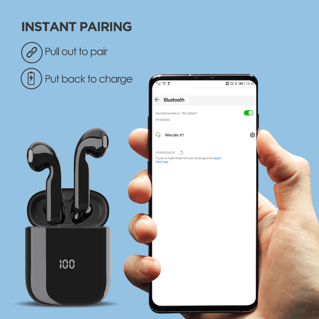 Mixcder X1 TWS Bluetooth Earphones with Noise Cancellation 4