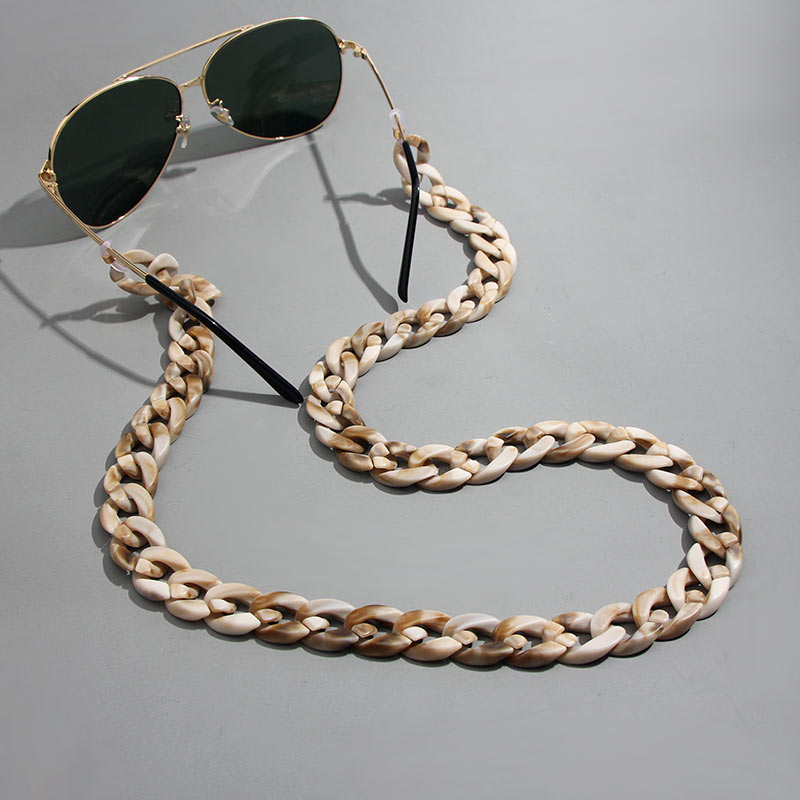 JJFOUCS Acrylic Eyeglass Chain Anti-slip Eyewear Cord Holder Neck Strap Reading Glasses Rope Men Women Unisex Sunglasses Strap